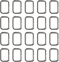 Shapenty 20MM Rectangle Bag Purse Snap Hook Metal Loop Rings Webbing Belts Buckle, 20PCS