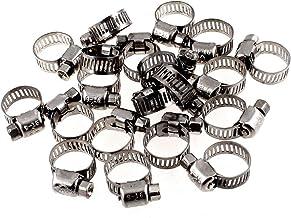 Abrazaderas ajustables para manguera de engranaje de acero inoxidable de 9 mm a 16 mm Saim 30 unidades