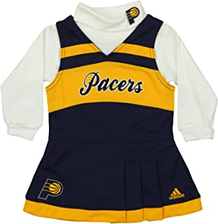 adidas NBA Infants Girls Cheer Jumper Dress with Turtleneck, Team Options