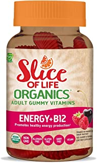Hero Nutritionals   Slice of Life   Adult Gummy Vitamins   Energy + B12   500 mcg   Essential Nutrients   Dietary Supplement   Non-GMO & Gluten Free   Promotes Healthy Energy Production   60 Count