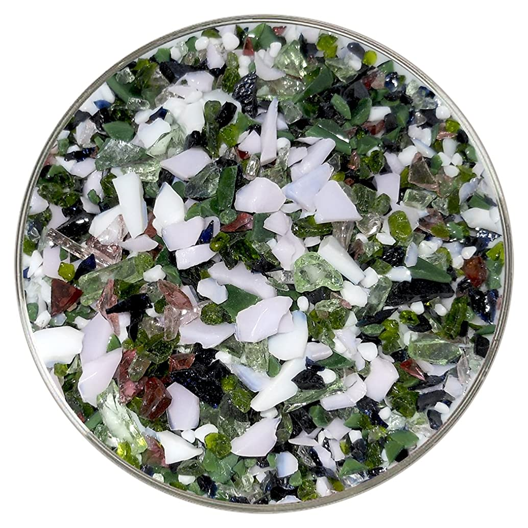 Water Lilies Designer Collection Coarse Frit Mix - 4oz - 96COE - Made From System 96 Glass