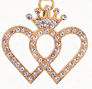 Giftale Heart Keychain for Women Cute Bag Charms Crystal Rhinestone Pendant Car Key Ring