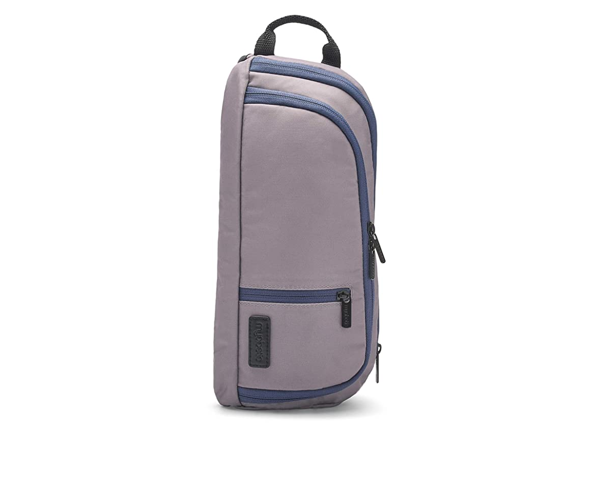 Myabetic Jay Diabetes Sling for Glucose Monitoring System, Insulin Pens, Insulin Vials, Glucagon, Including Insulation Section (Stone Gray/Navy)