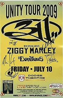 311 Autographed Signed Memorabilia 2009 Concert Autographed Signed Memorabilia 2009 Unity Tour Poster JSA Authenticty