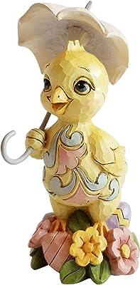 Enesco Jim Shore Heartwood Creek Mini Chick with Umbrella Figurine