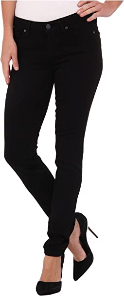 Paige Skyline Skinny in Black Shadow