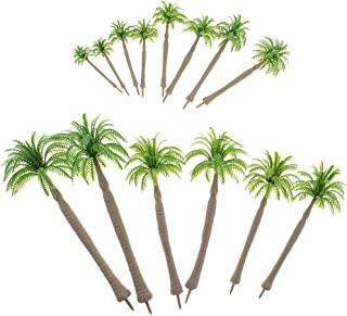 Flameer 14 Piece 1/50-1/250 Green Coconut Trees Models for Warhammer Diorama Layout