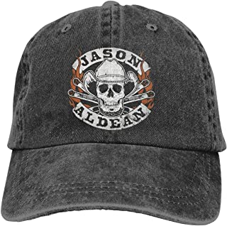 Jason Aldean Adjustable Hip Hop Cotton Washed Denim Hat Black
