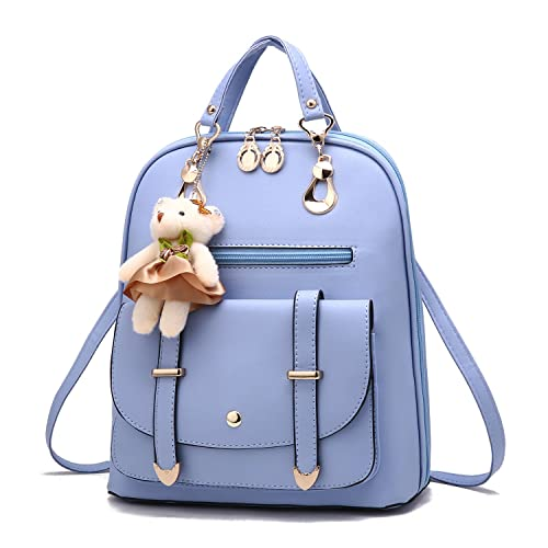 97efda09fd1b Barwell Women Backpack School Shoulder PU Leather Daypacks Travel Bag