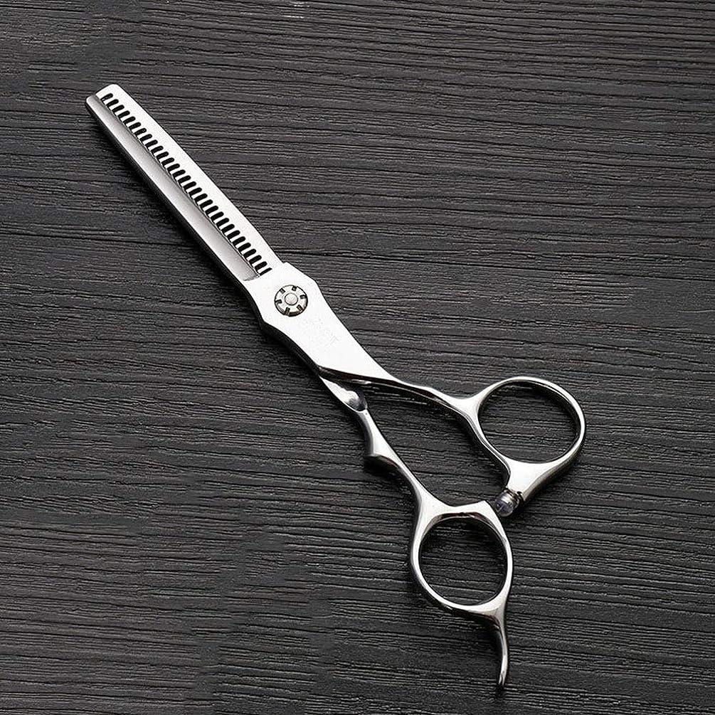 口頭クリーム転倒6インチのステンレス鋼の歯のせん断の薄くする理髪はさみ、美容院の特別なはさみ ヘアケア (色 : Silver)