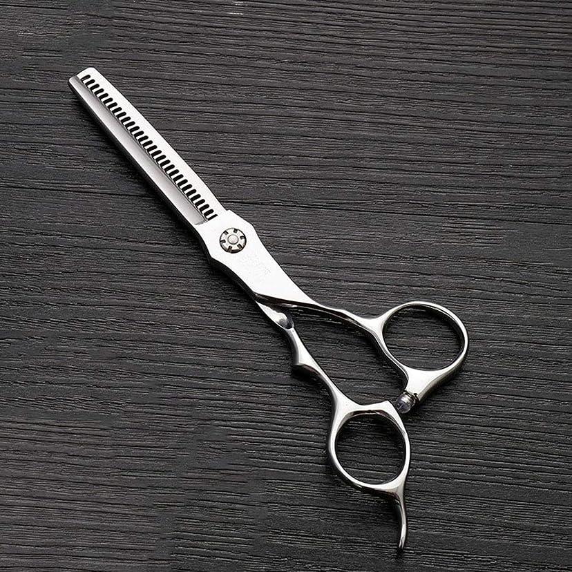 打撃引き金評判トリミングシザー 6インチのステンレス鋼の歯のせん断の薄くする理髪はさみ、美容院の特別な理髪はさみ毛の切断はさみステンレス理髪はさみ (色 : Silver)