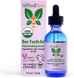 Bee Youth-full Rejuvenating Anti Aging Serum - Face Oil - Reduce Wrinkles Fine-Lines - Age Spot Remover for Face - USDA Ap...