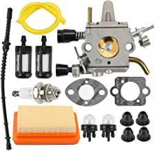 Coolwind Carburetor with Gasket Air Filter Primer Bulb Repower Tune Up Kit for STIHL FS120 FS200 FS250 FS300 FS350 String Trimmer