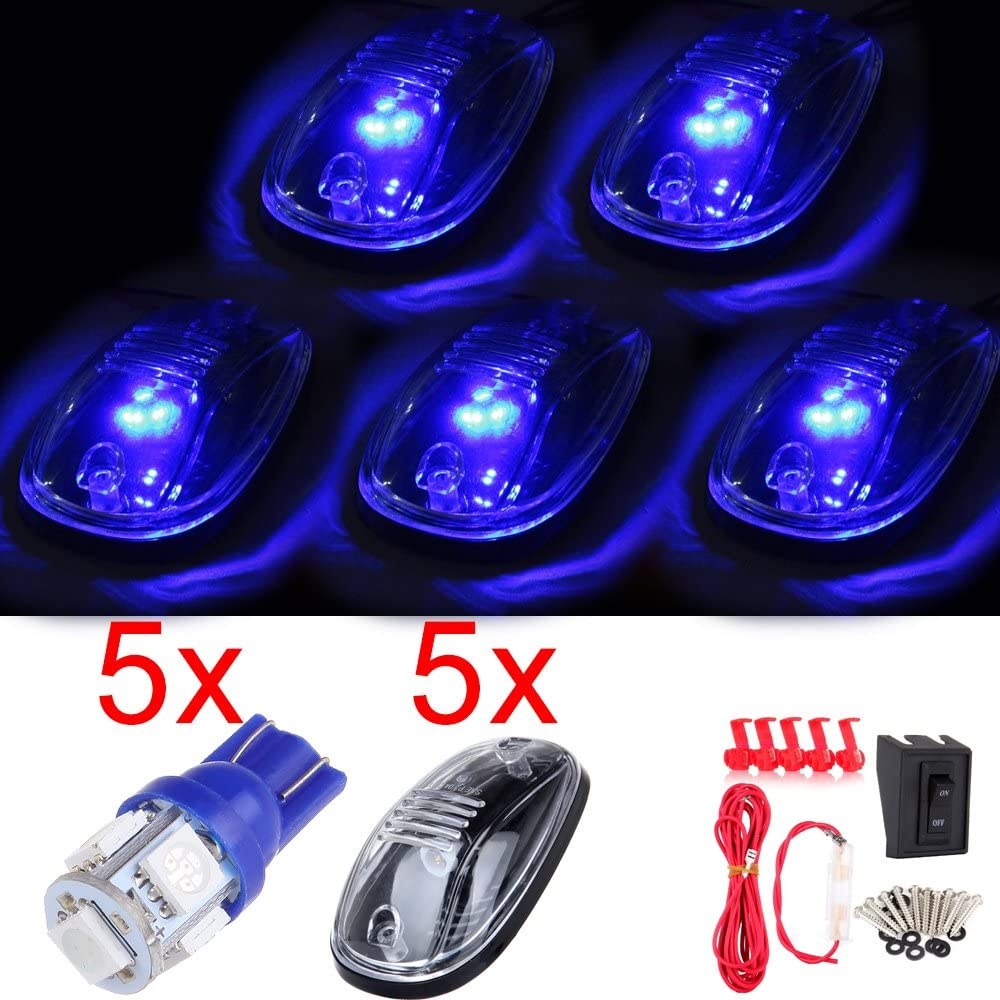 SCITOO 5pcs Cab Marker All stores are sold Light Assembly Blue 5Pcs 168 5-5050-SMD + Brand new