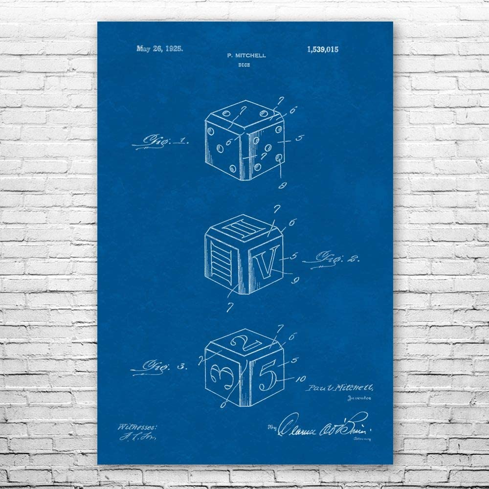 SEAL limited product Dice Poster Print Casino Wall Gifts Fashion Player Boss Art Pit