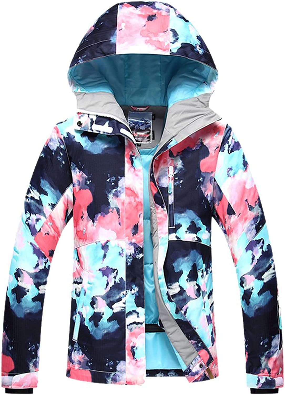 HOTIAN Women's Snowboard Jacket Winter Coats Windproof Waterproof colorful Ski Jacket