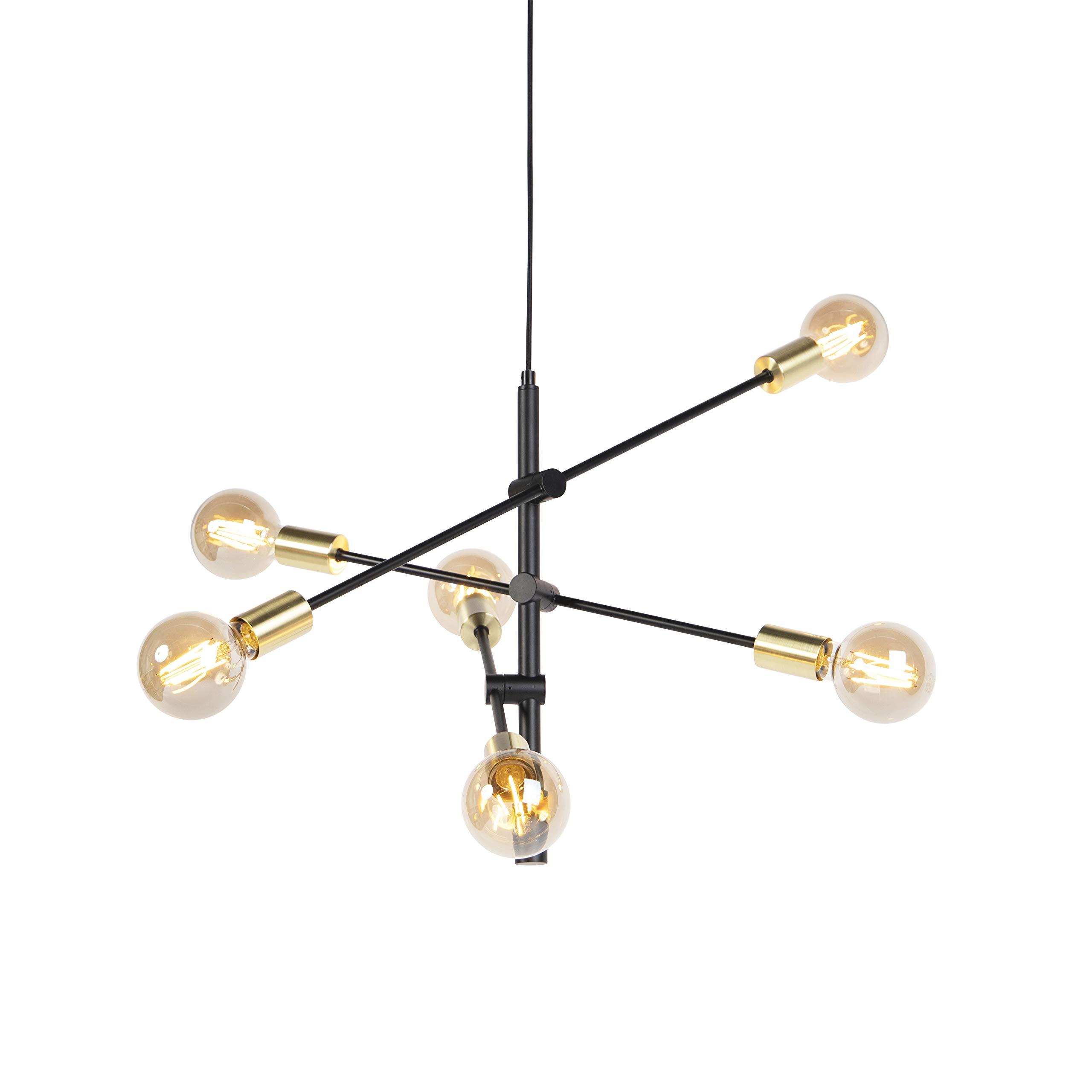 Schwarz//Messing beschichtet House Doctor Lampe Molekular