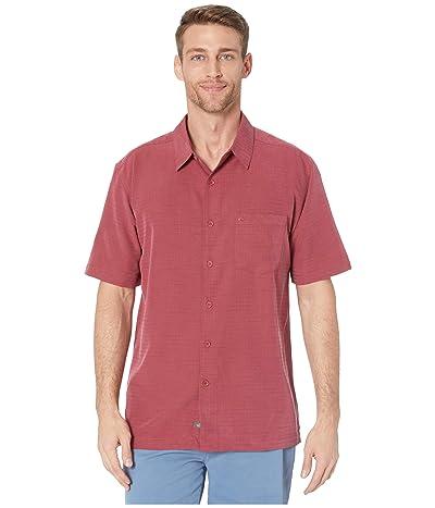 Quiksilver Waterman Centinela 4 Short Sleeve Shirt (Burnt Russet Centinella) Men