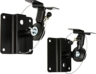 Monoprice Adjustable 33 lb. Capacity Speaker Wall Mount Brackets (Pair) Black
