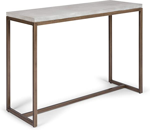 Geometric White Console Table By Home Styles