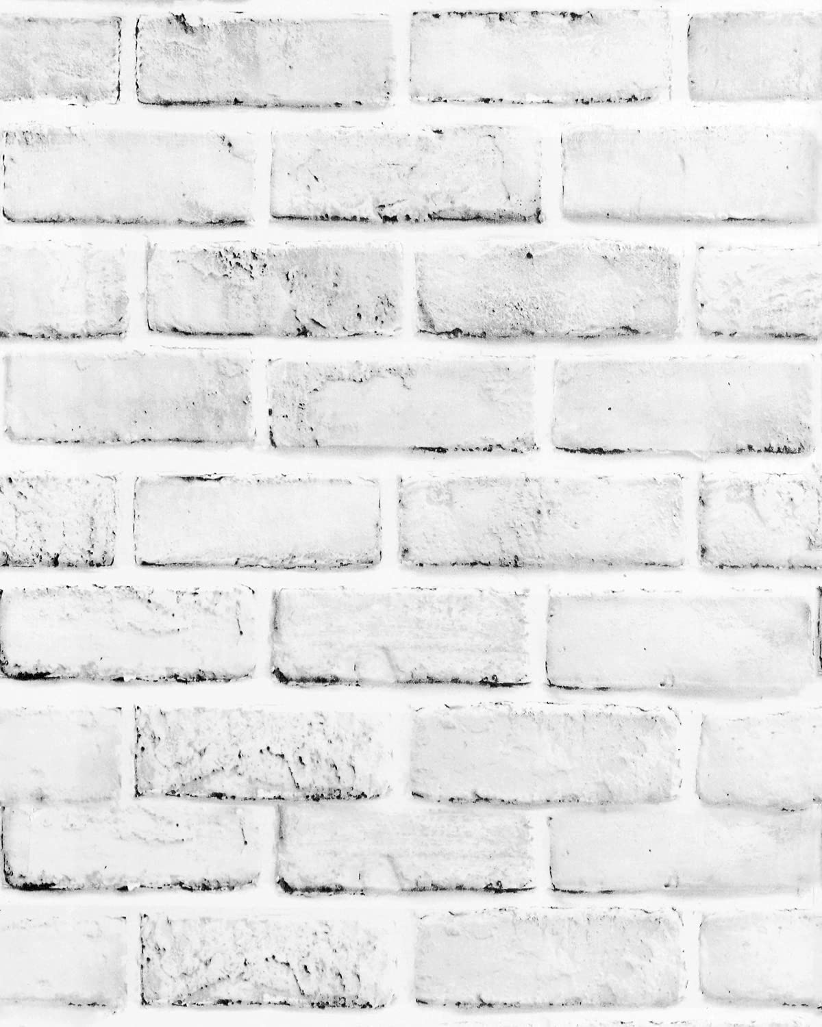 GloryTik White Gray Brick Wallpaper Stick and Peel Limited Special Challenge the lowest price of Japan ☆ Price 17.