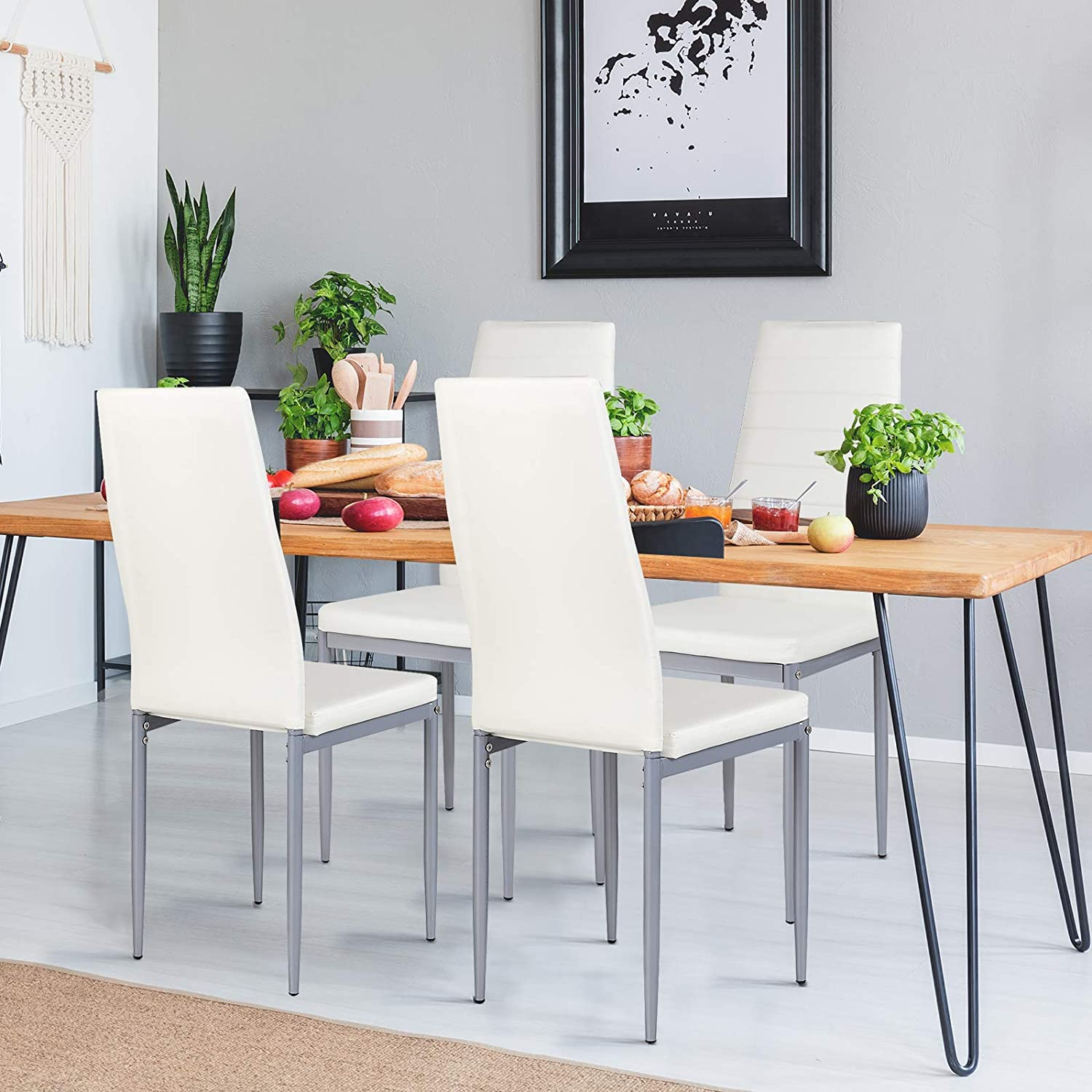 Best Overall: Giantex Leather Dining Chairs.