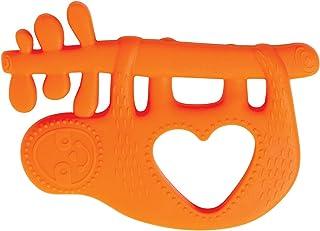 Manhattan Toy Animal Shapes Sloth Silicone Teether, Orange