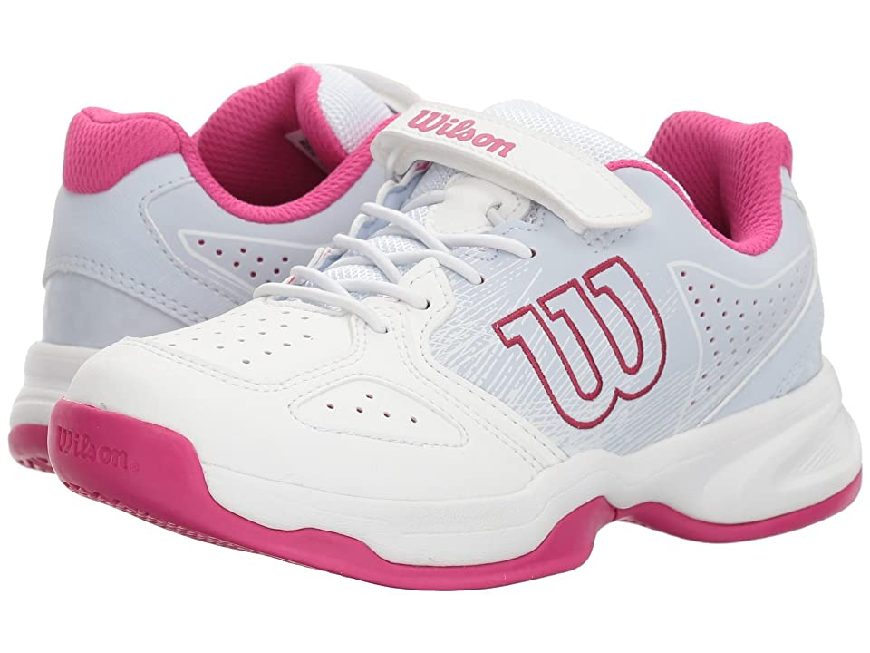 Wilson Kids Stroke K Tennis (Little Kid) (White/Halogen Blue/Verry Berry) Girls Shoes