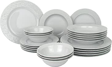 Mitterteich EKS18Y400 Eks Service 18 Pi/èces Porcelaine Blanc