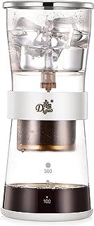 アイスコーヒーメーカー 水出しドリップ オランダエスプレッソコーヒー ウォータードリッパー 柱形 ペーパーフィルター50枚付き 300ML