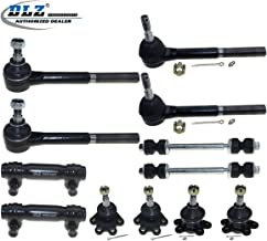 DLZ 12 Pcs Front Suspension Kit-2 Lower 2 Upper Ball Joint 2 Inner 2 Outer Tie Rod End 2 Adjusting Sleeve 2 Sway Bar Compatible with Chevrolet K1500 K2500 (Suburban) Chevrolet Blazer