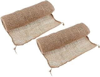 non-brand Sharplace 2pcs Housses Plantes Toile de Jute Hivernage Arbre Protecteur Bandage Plante