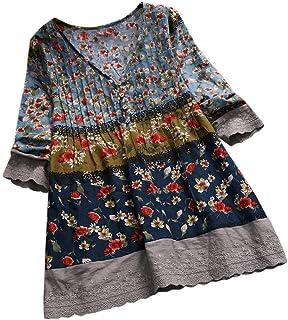 544504983562d9 VEMOW Sommer Herbst Elegante Damen Plus Größe Dot Print Lose Baumwolle  Casual Täglichen Party Strandurlaub Kurzarm