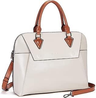 BOSTANTEN Women Briefcase Genuine Leather 15.6 inch Shoulder Laptop Bag Computer Work Satchel Top-Handle Crossbody Handbag