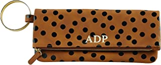 Mud Pie Women Fashion Vegan Leather Handbags Corey Print Cuff Clutch