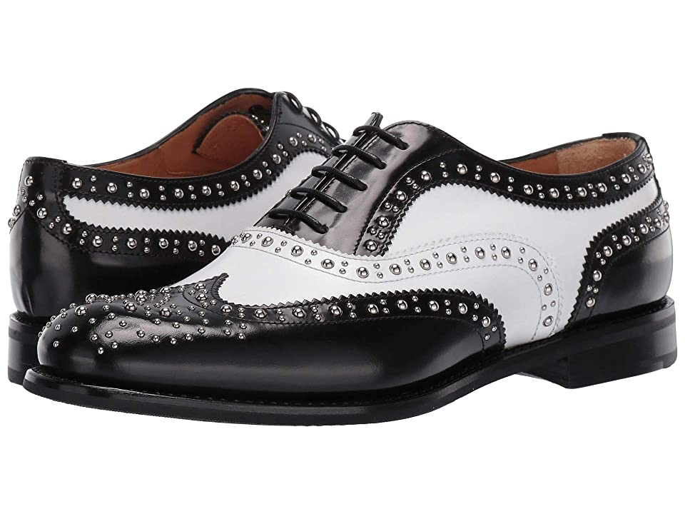 1920s Style Shoes Churchs Burwood 6 Oxford w Studs BlackWhite Womens Lace up casual Shoes $660.00 AT vintagedancer.com