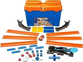 Hot Wheels Track Builder Caja de acrobacias, accesorios para pistas de coche (Mattel DWW95)