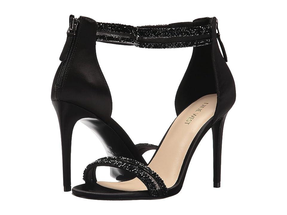 Nine West Juliander (Black Multi Satin) Women's Sandals