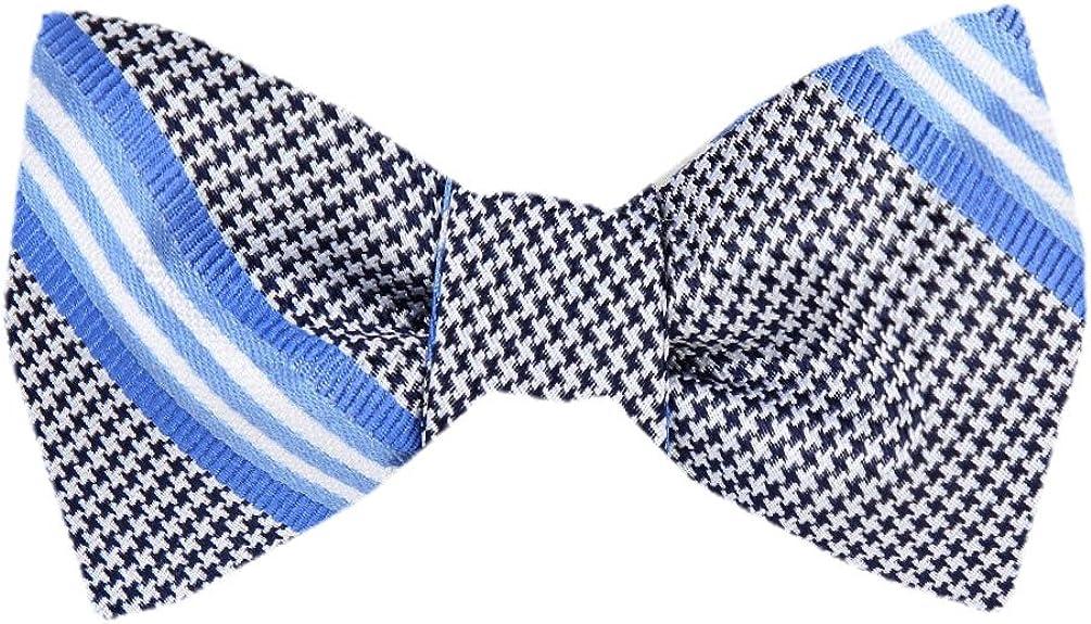 FBTZ-990 - Men's Silk Self Tie Bowtie Tie Yourself Bow Ties