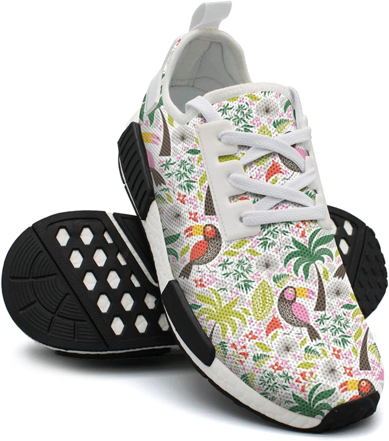 Ktyyuwwww Woman colorful Top Exotic Birds Unique Design Running shoes
