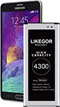 LIKEGOR Galaxy Note 4 Battery, 4300mAh High Capacity Battery Replacement for Samsung..