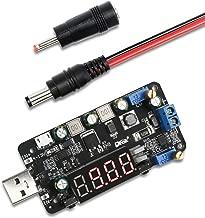 Adjustable Voltage Regulator, DROK USB Input Buck Boost Converter DC 4-13V to 0.5-30V 5V 12V 24V Voltage Step Up Down Transformer Power Supply Module
