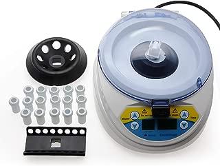AMTAST 10,000 RPM Mini Centrifuge Adjustable Includes 8-Place Micro Tube Rotor and 16-Place PCR Strip Rotor Mini Desktop Centrifuge
