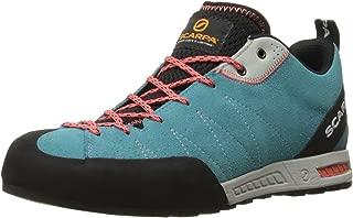 SCARPA Women's Gecko WMN Approach Shoe-W, Ice Fall Brown/Coral Red, 40.5 EU/8.6 M US