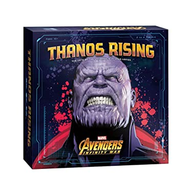 USAOPOLY Thanos Rising: Avengers Infinity War Cooperative Dice and Card Game | Marvel Avengers Endgame and Avengers Infinity War Movies | Collectible Thanos Figure Included (DC011-543-001800-03)
