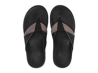 Sperry Regatta Thong (Black/Grey) Men