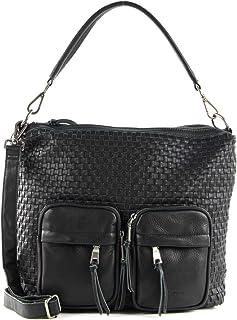 "FREDsBRUDER ""Noon Ledertasche Shopper Handtasche Umhängetasche geflochten - 35x30x10cm (B x H x T)"
