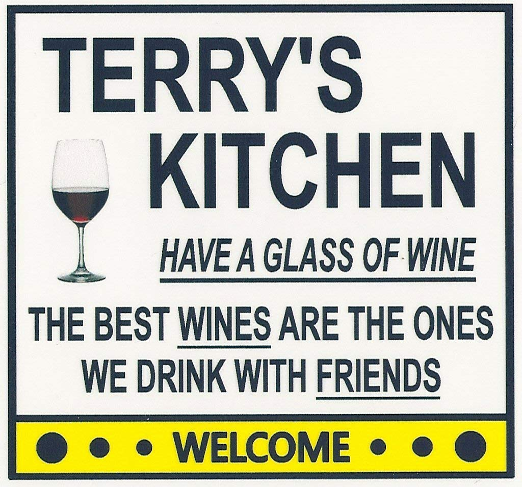 Terry's Have a Glass of Wine Denver Mall Magnet. price Kitchen for Customize any n
