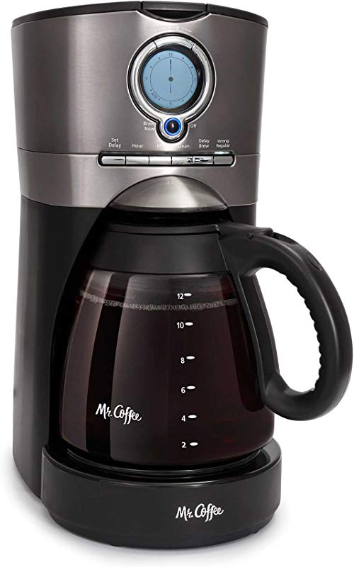 Mr Coffee 12 Cup Programmable Automatic Coffee Maker In Black Stainless Steel