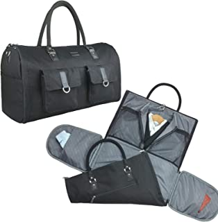 2 in 1 Convertible Travel Garment Bag Carry On Suit Bag Luggage Duffel Bag